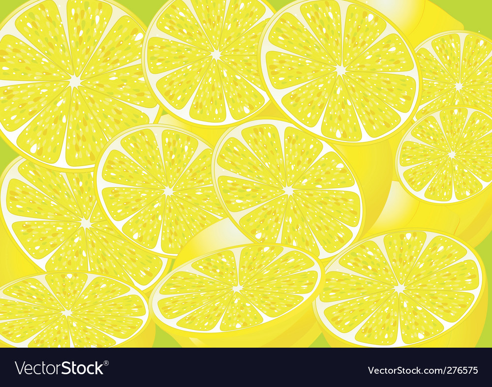 Juicy lemons vector | Price: 1 Credit (USD $1)