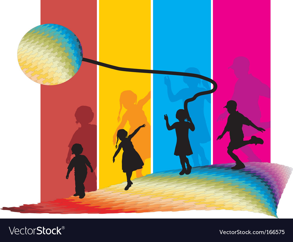 Kids on the move vector | Price: 1 Credit (USD $1)