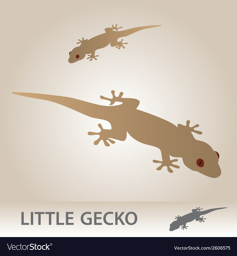 Little gecko eps10 vector | Price: 1 Credit (USD $1)