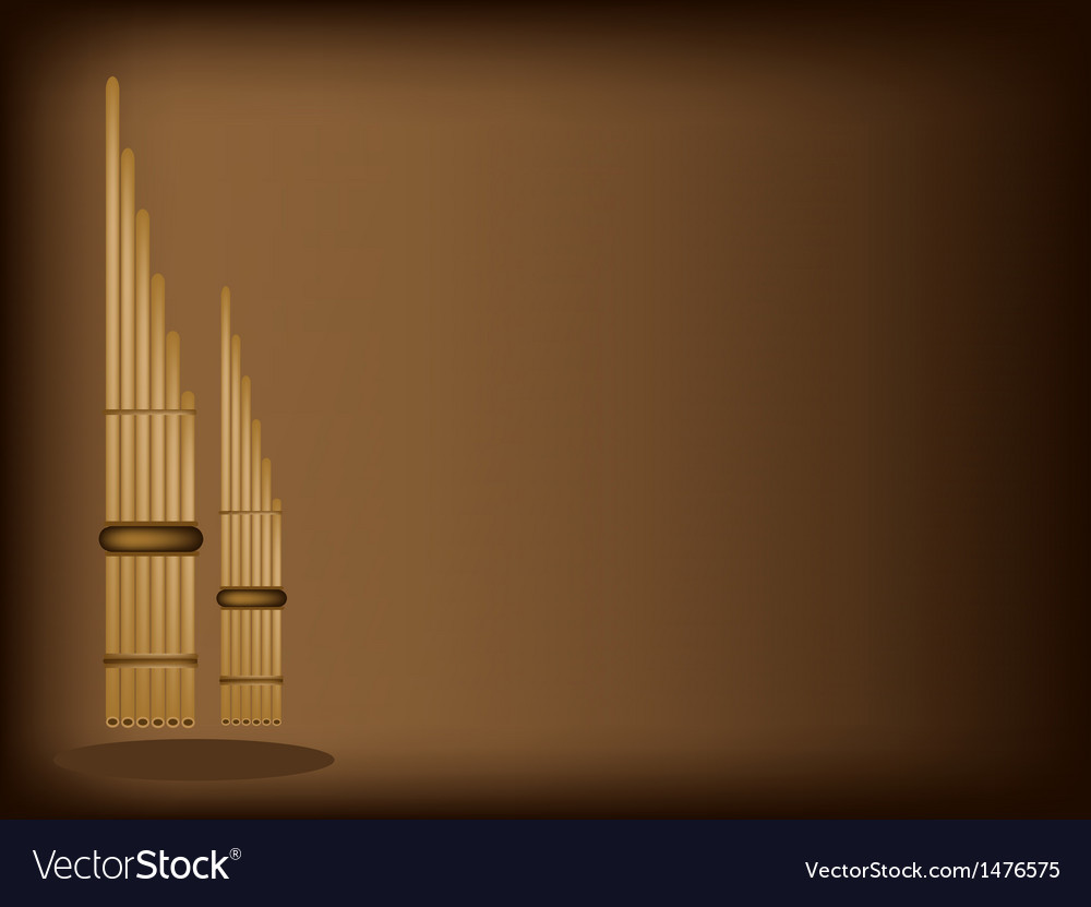 Musical pan flute background vector | Price: 1 Credit (USD $1)