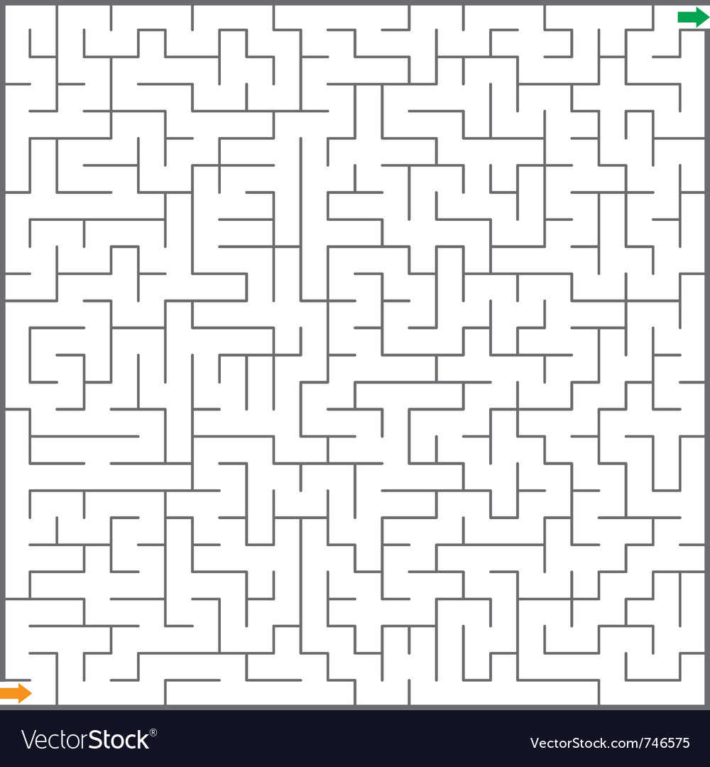 Of maze vector | Price: 1 Credit (USD $1)