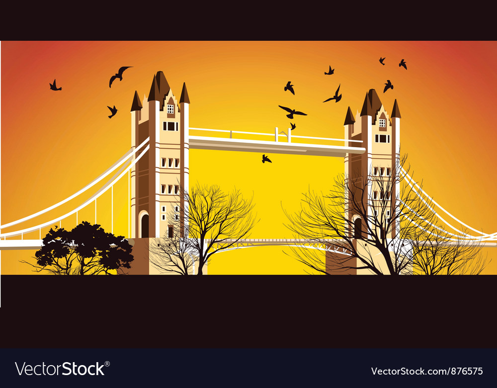 Old british bridge vector | Price: 1 Credit (USD $1)