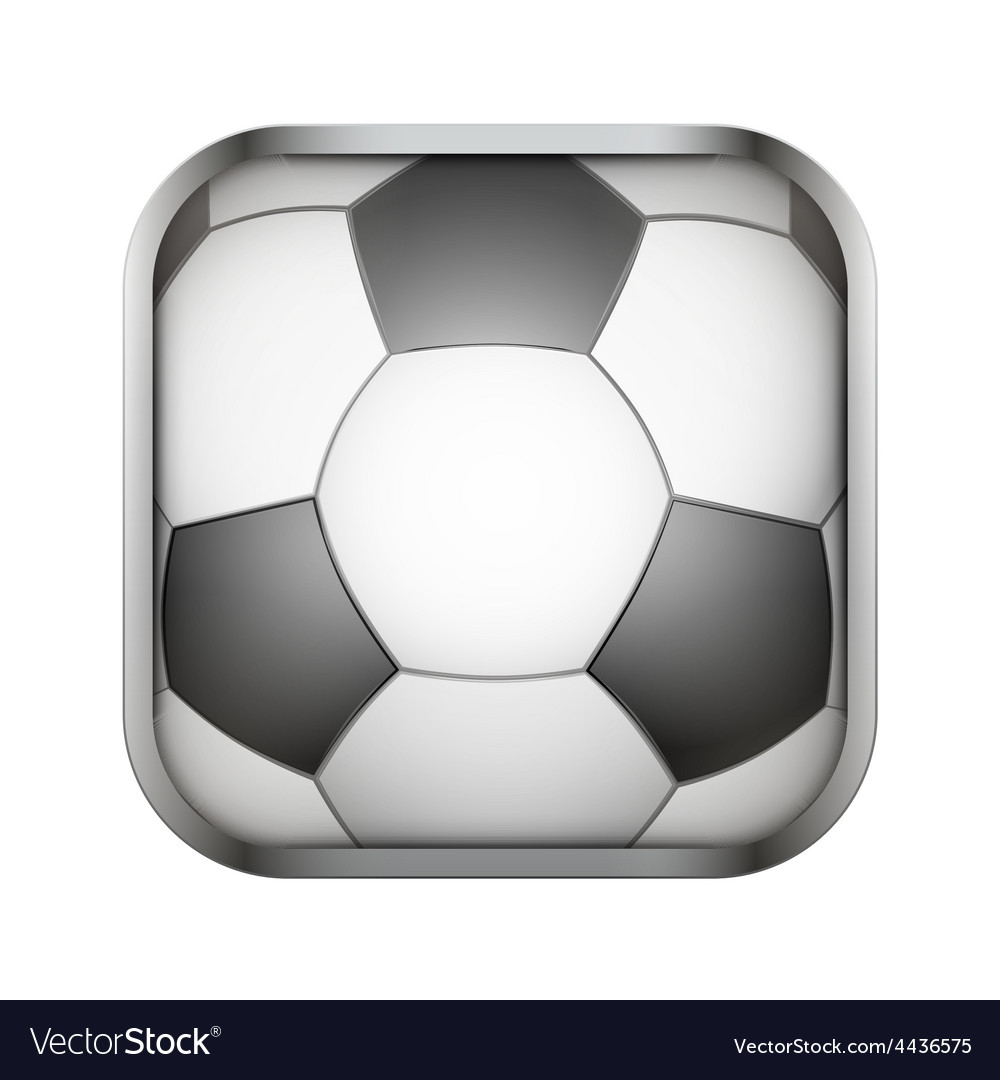 Square icon for football app or games vector | Price: 1 Credit (USD $1)