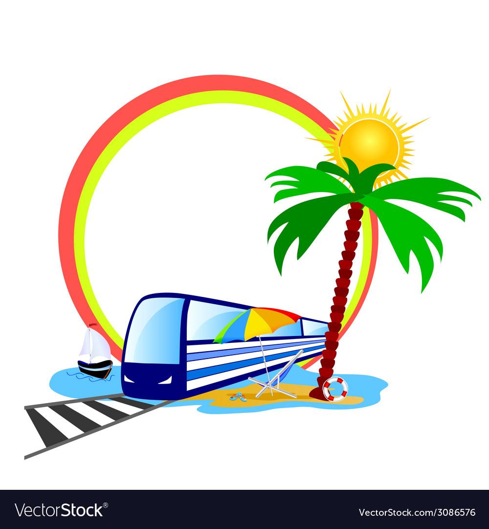 Beauty beach part tree vector   Price: 1 Credit (USD $1)