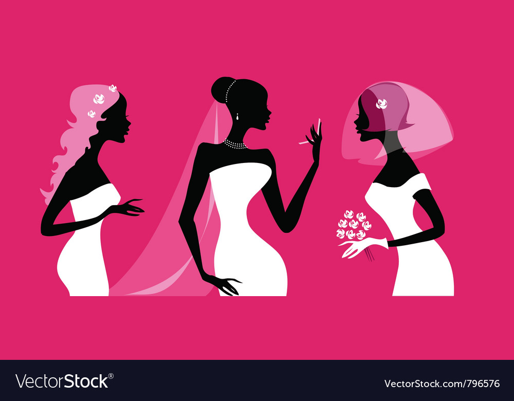 Brides silhouettes vector | Price: 3 Credit (USD $3)