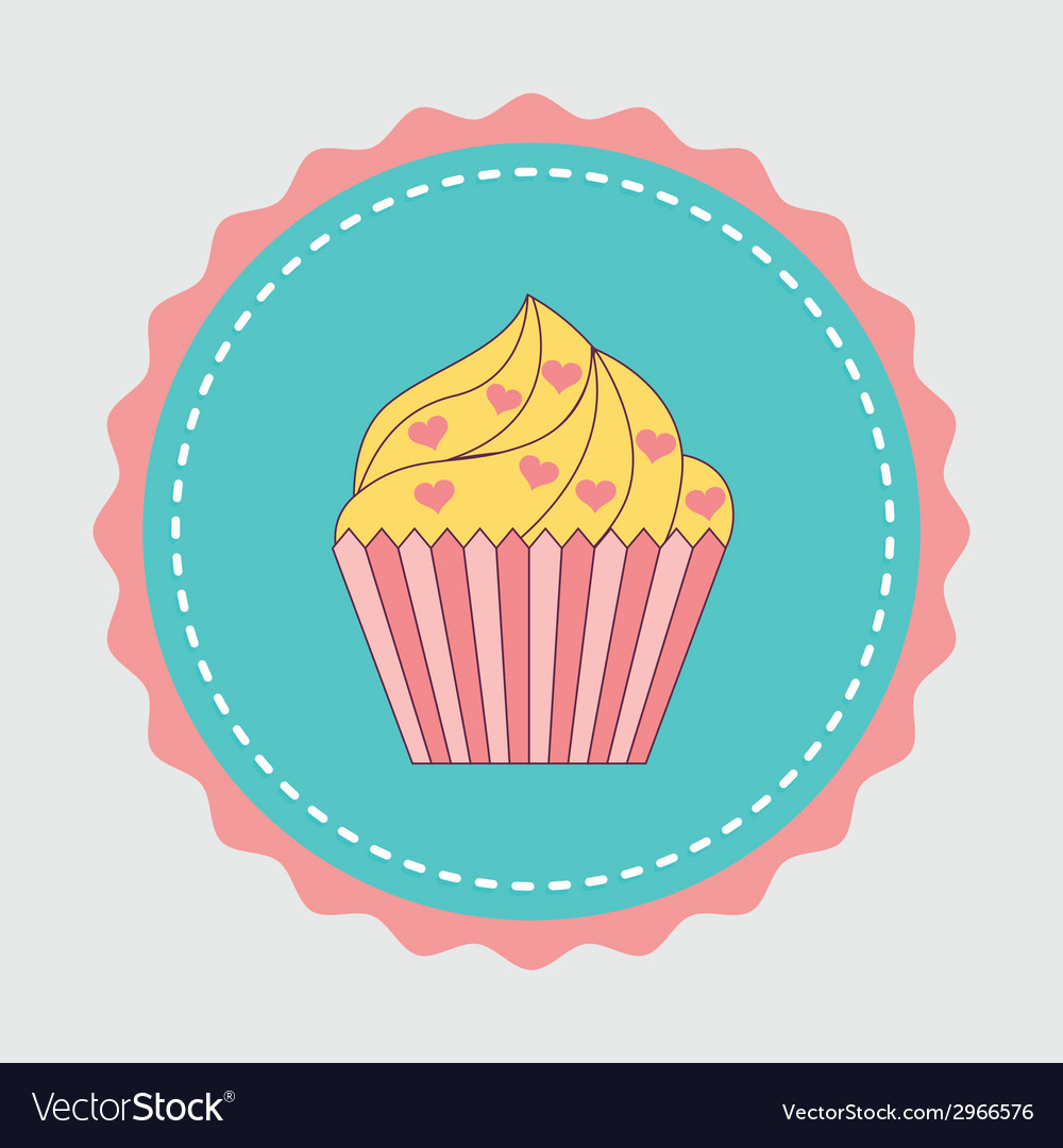 Cake design vector | Price: 1 Credit (USD $1)