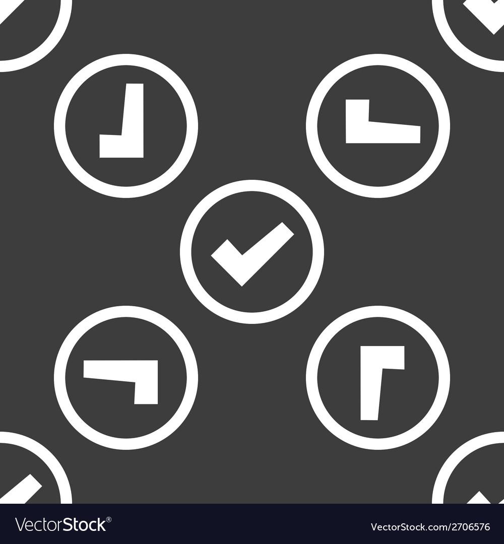 Check mark web icon flat design seamless pattern vector   Price: 1 Credit (USD $1)