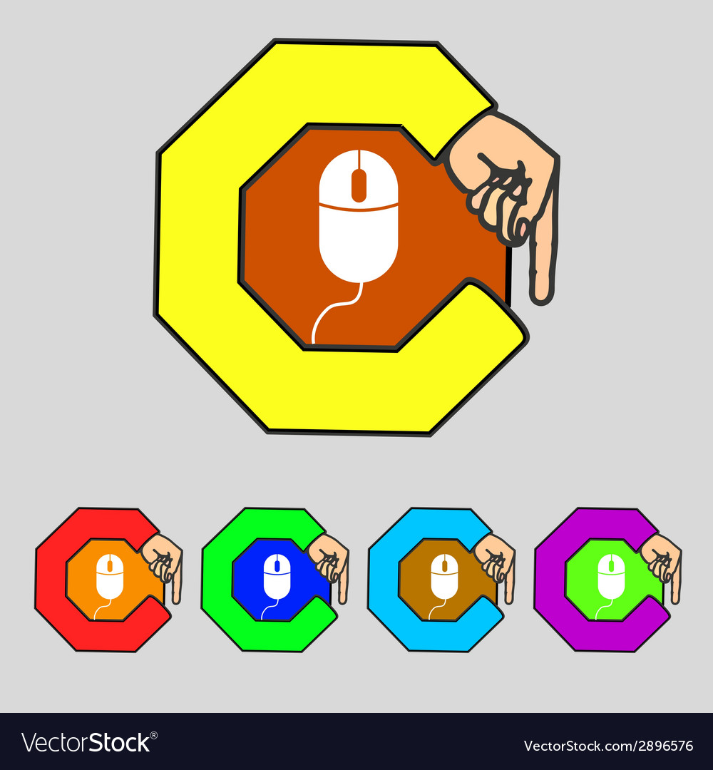 Computer mouse sign icon optical with wheel symbol vector | Price: 1 Credit (USD $1)