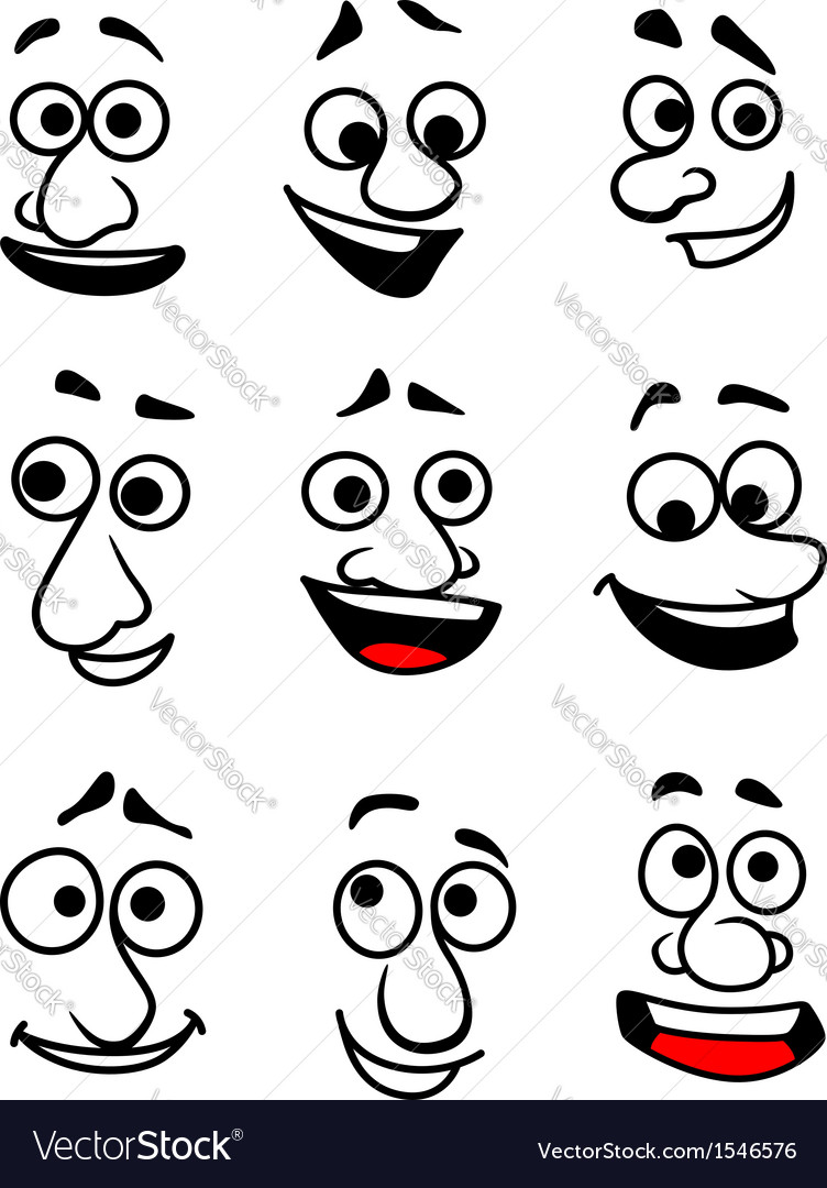 Emotional faces vector | Price: 1 Credit (USD $1)
