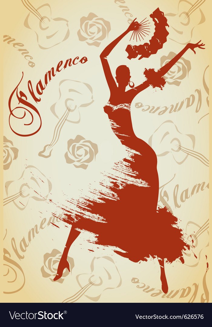 Flamenco girl vector | Price: 1 Credit (USD $1)