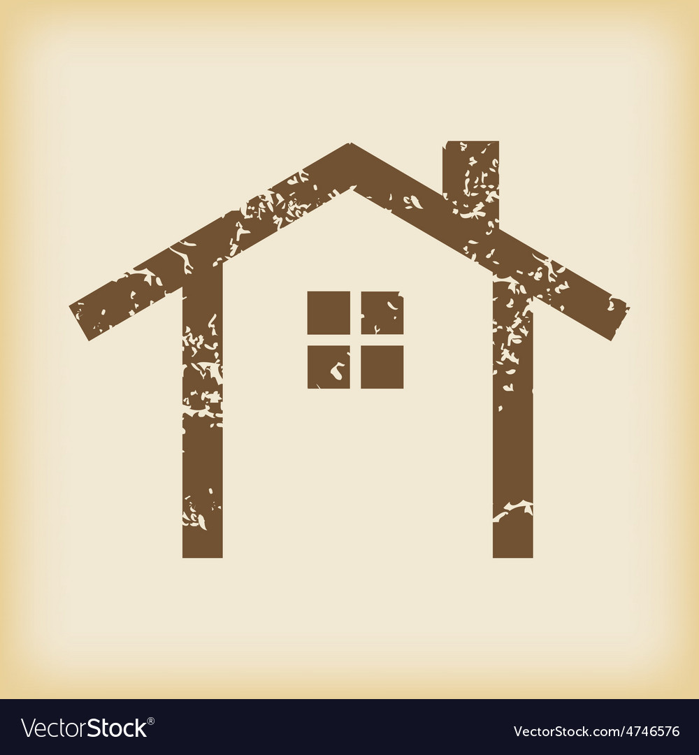 Grungy cottage icon vector   Price: 1 Credit (USD $1)