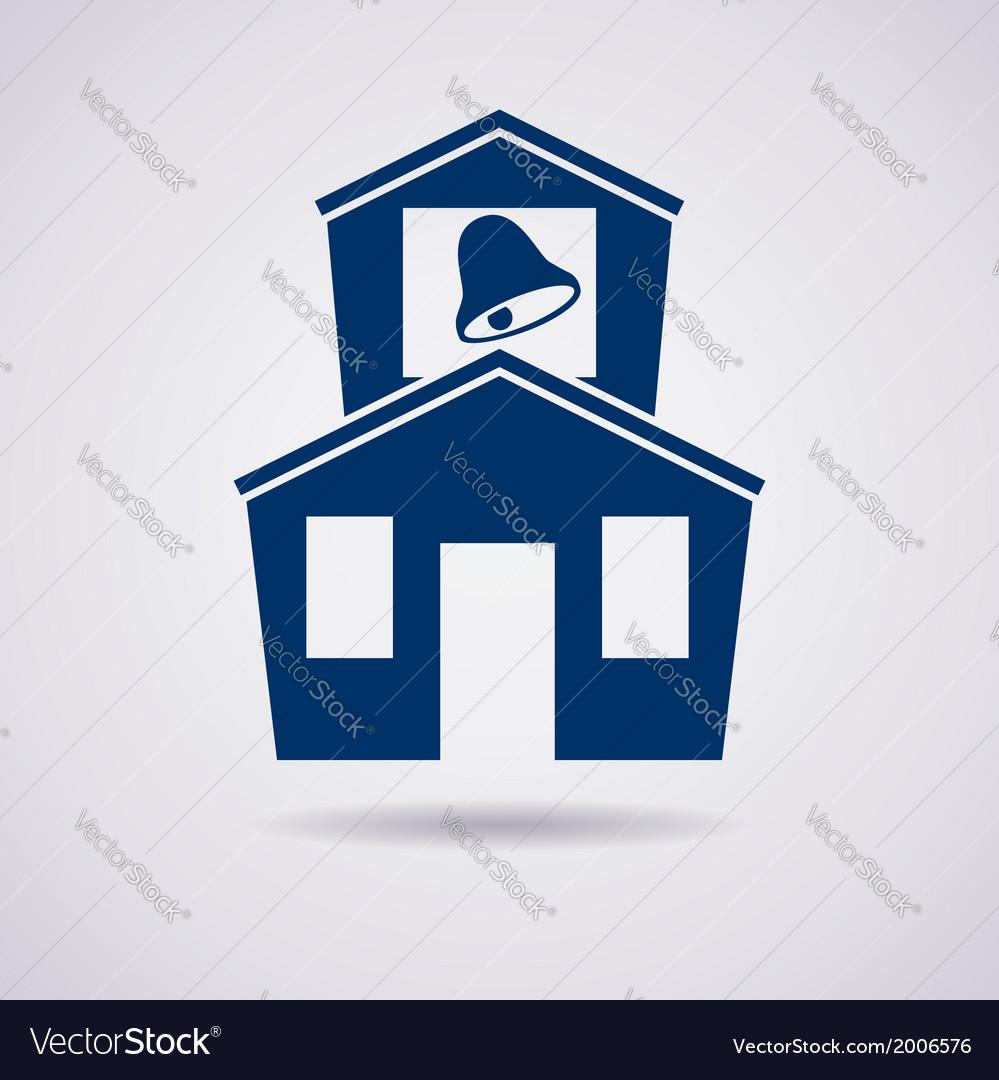 Icon of school vector   Price: 1 Credit (USD $1)