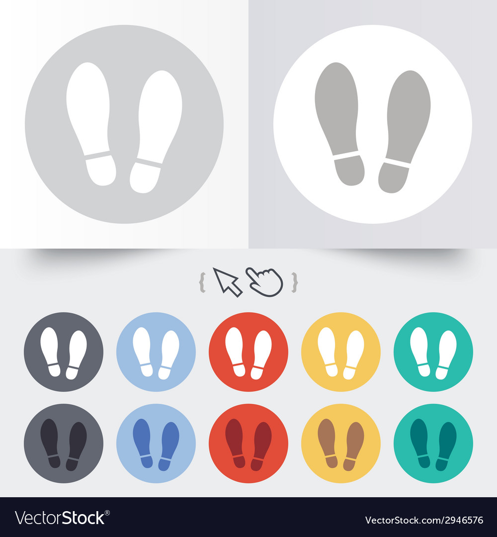 Imprint shoes sign icon shoe print symbol vector | Price: 1 Credit (USD $1)