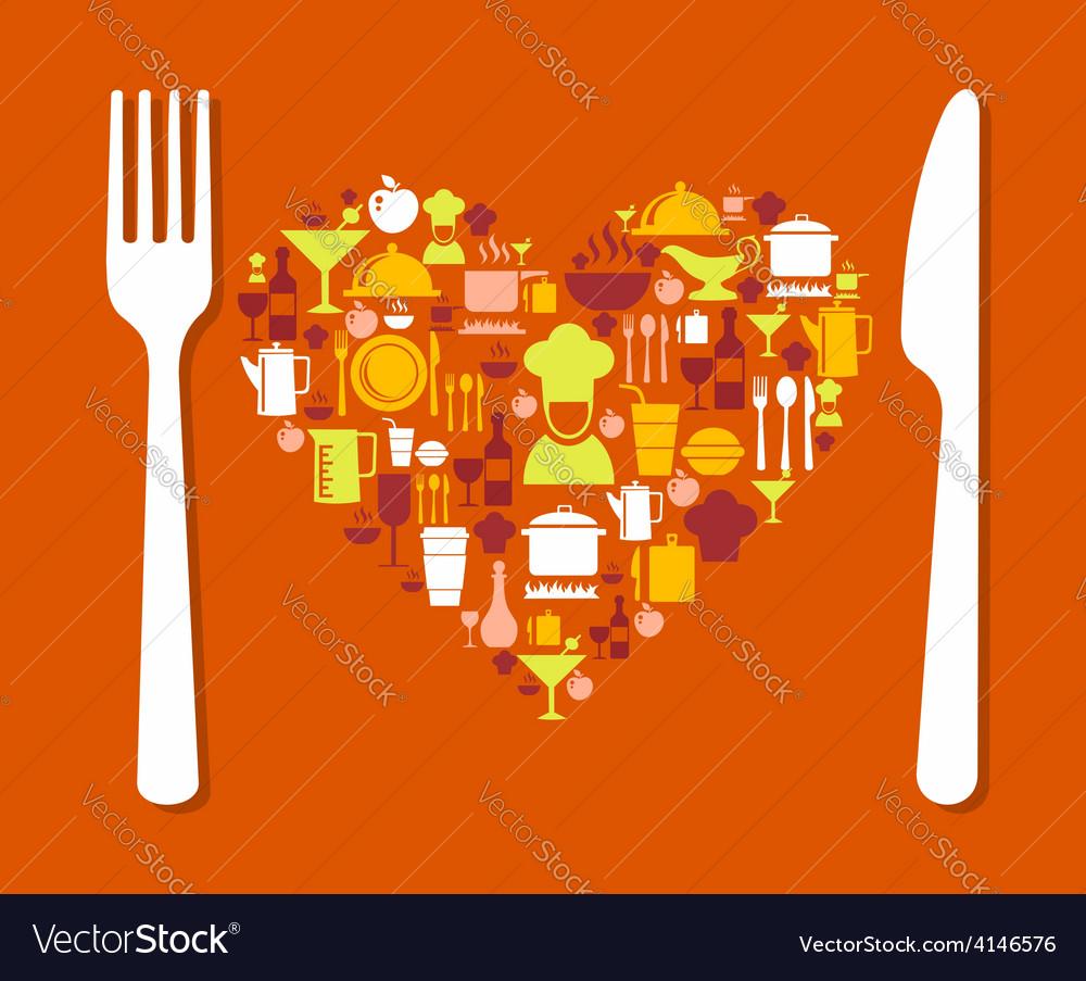 Love food vector | Price: 1 Credit (USD $1)