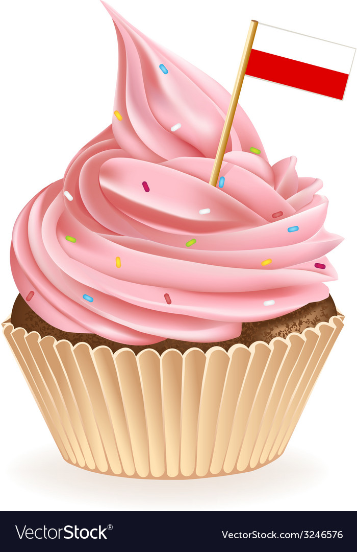 Polish cupcake vector | Price: 1 Credit (USD $1)