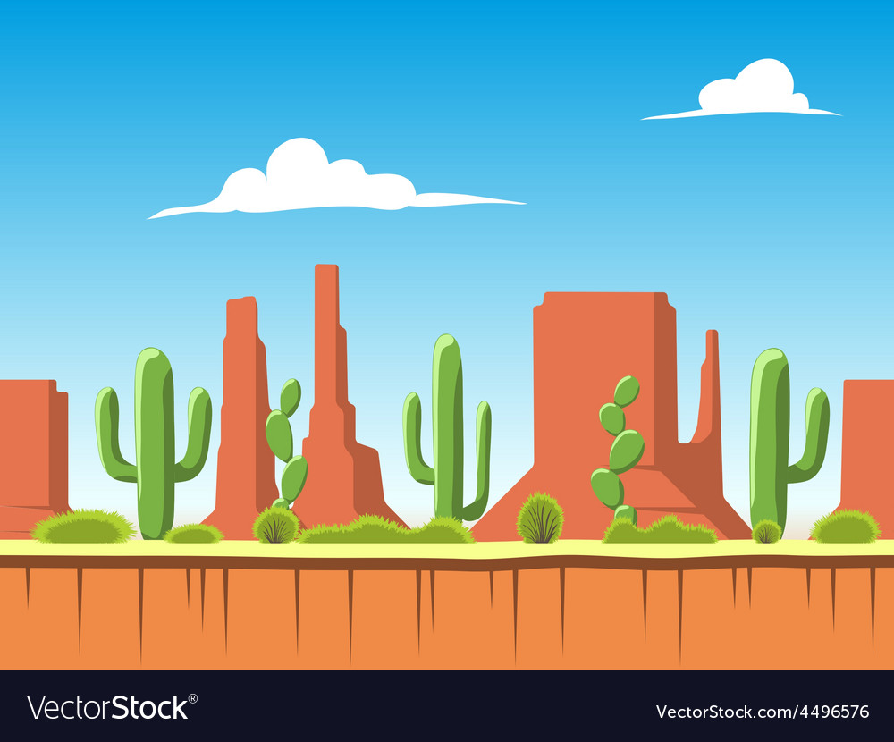 Seamless background with soil bushes mountains vector | Price: 1 Credit (USD $1)