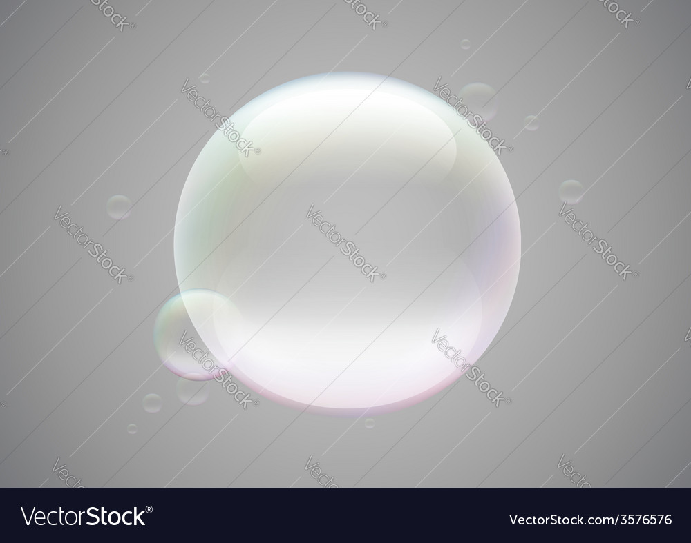 Soap bubble frame vector | Price: 1 Credit (USD $1)