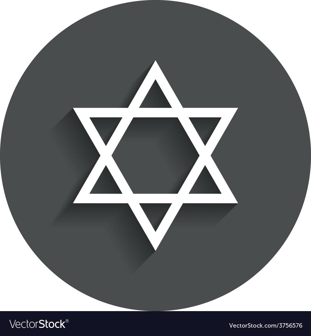 Star of david sign icon symbol of israel vector | Price: 1 Credit (USD $1)