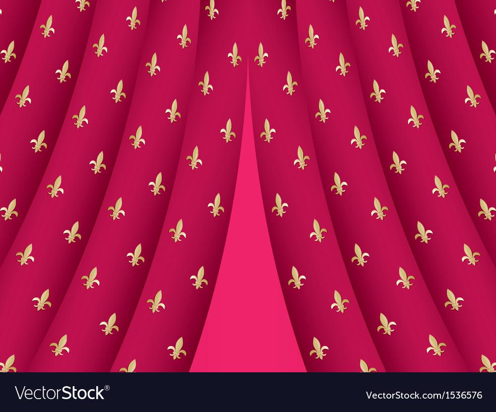 Theatre curtain vector | Price: 1 Credit (USD $1)