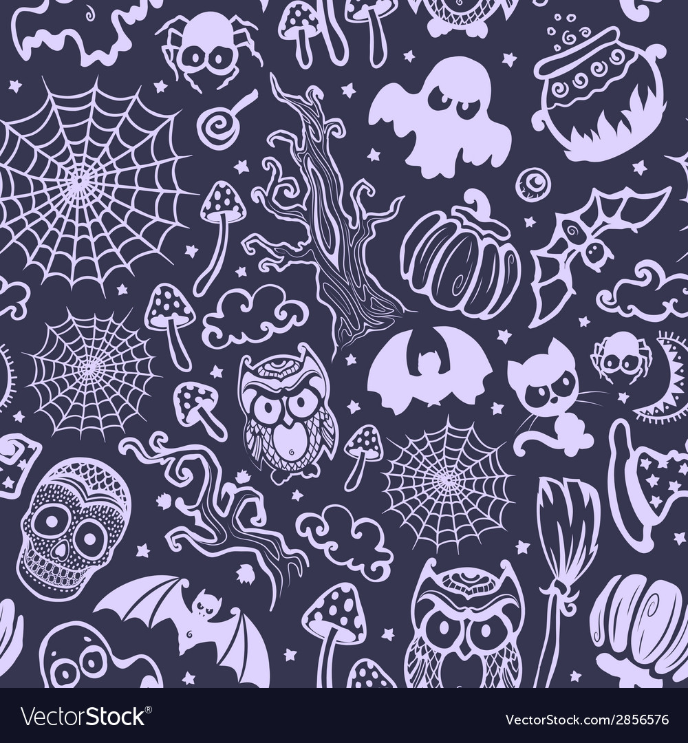Vintage halloween seamless vector | Price: 1 Credit (USD $1)