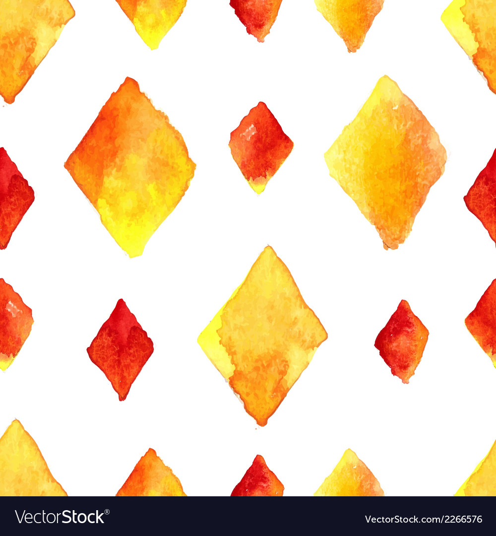 Watercolor rhombus seamless pattern vector | Price: 1 Credit (USD $1)