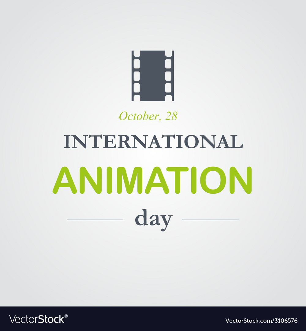 World animation day october 28 vector | Price: 1 Credit (USD $1)