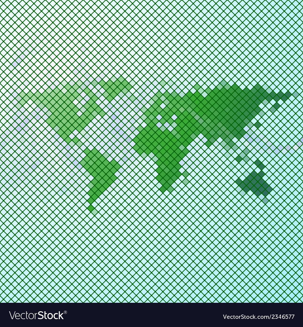 Abstract green mosaic world map vector | Price: 1 Credit (USD $1)