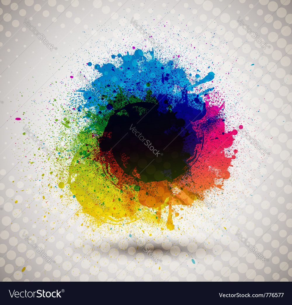 Colorful ink splash banner vector | Price: 1 Credit (USD $1)
