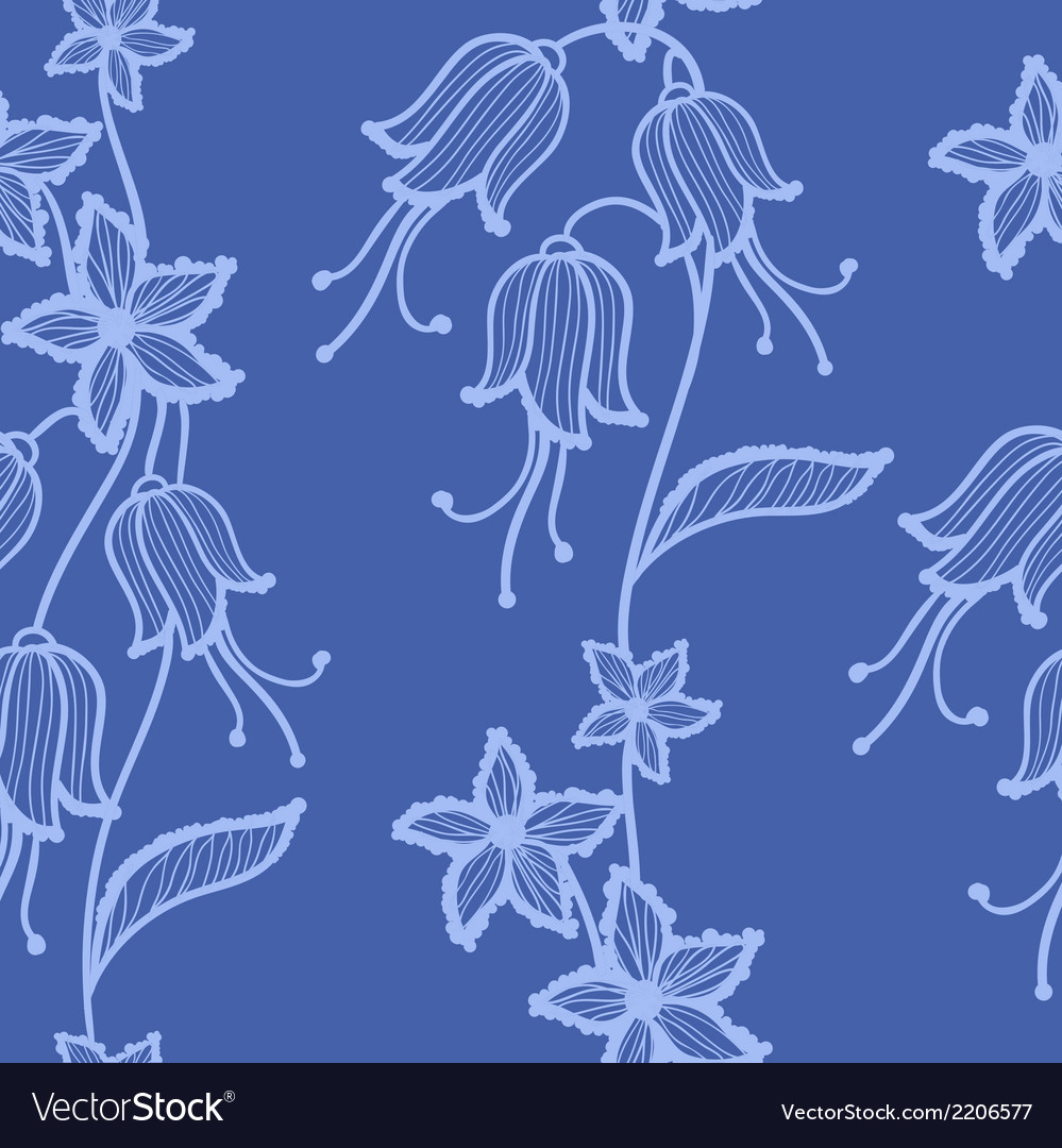 Flower lacy seamless background vector | Price: 1 Credit (USD $1)