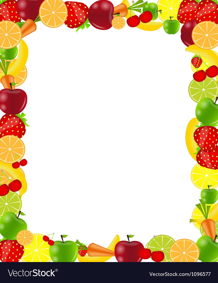 Fruit frame vector | Price: 1 Credit (USD $1)