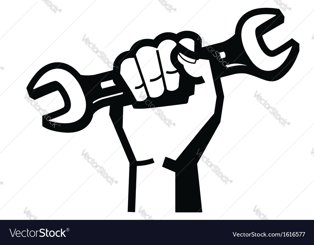 Hand and wrench vector | Price: 1 Credit (USD $1)
