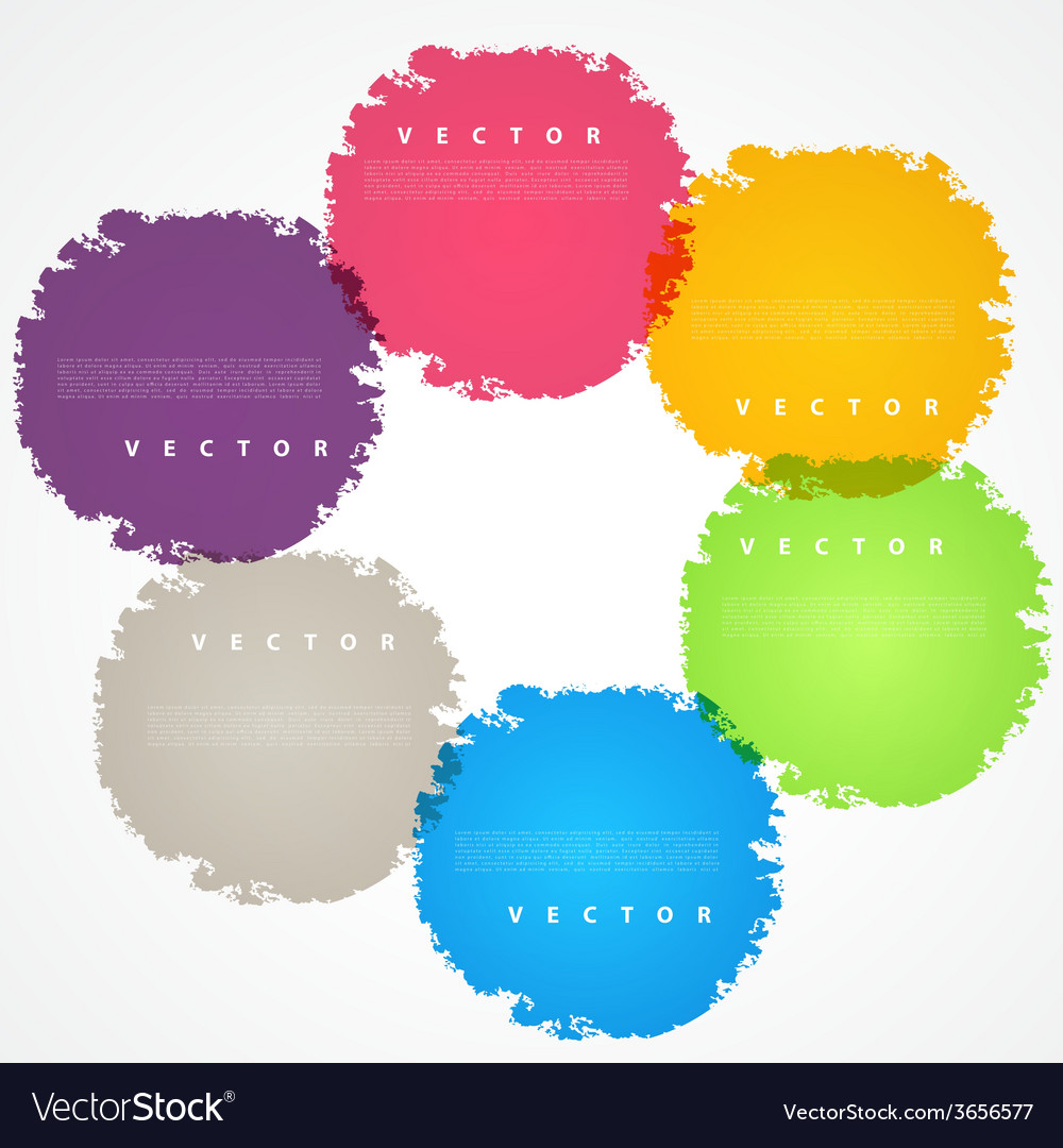 Set of hand color circles vector   Price: 1 Credit (USD $1)