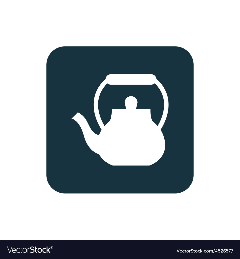 Teapot icon rounded squares button vector | Price: 1 Credit (USD $1)
