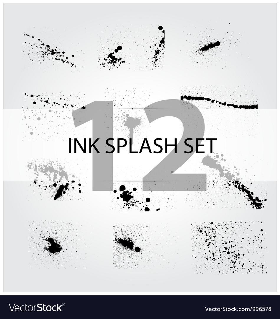 Abstract ink splash set vector | Price: 1 Credit (USD $1)