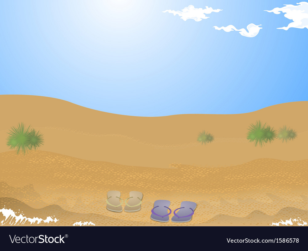 Beach sand vector | Price: 1 Credit (USD $1)