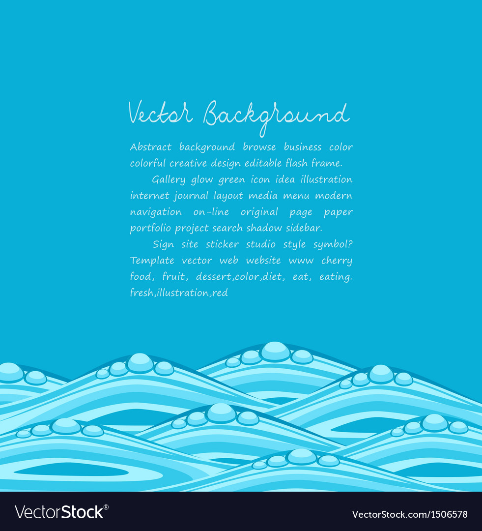Blue background with ocean waves vector | Price: 1 Credit (USD $1)
