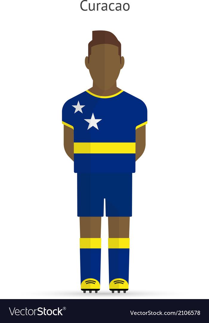 Curacao football player soccer uniform vector   Price: 1 Credit (USD $1)