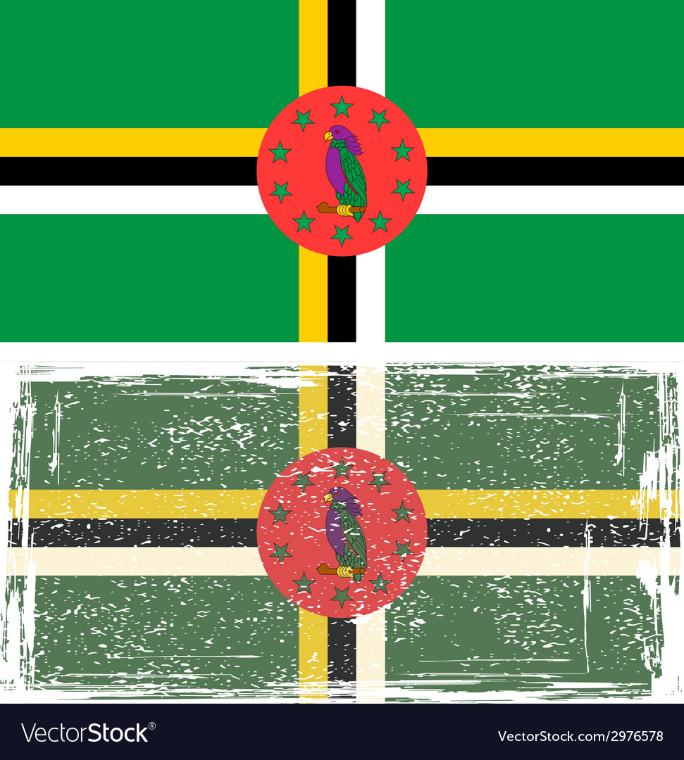 Dominica grunge flag vector | Price: 1 Credit (USD $1)
