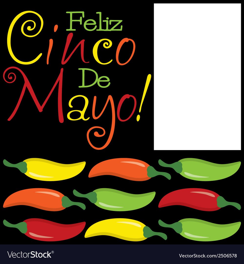 Funky cinco de mayo card in format vector | Price: 1 Credit (USD $1)
