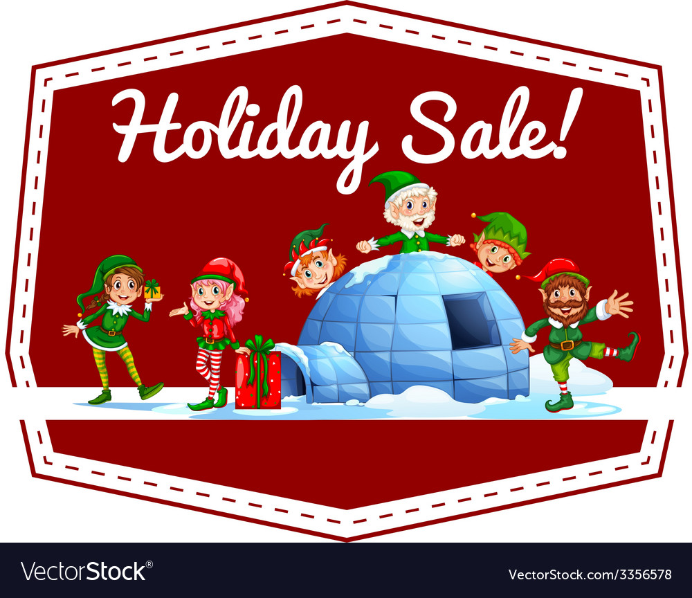 Holiday sale label vector | Price: 3 Credit (USD $3)