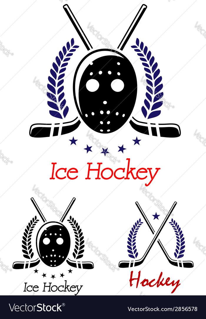Ice hockey symbols set vector | Price: 1 Credit (USD $1)