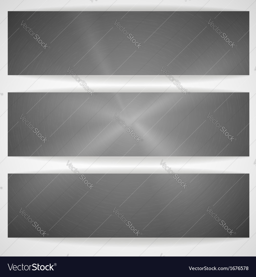 Metal texture banner vector | Price: 1 Credit (USD $1)