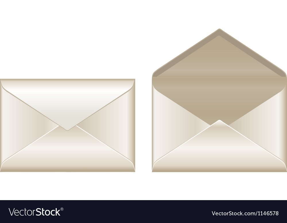 Open and closed envelopes vector | Price: 1 Credit (USD $1)