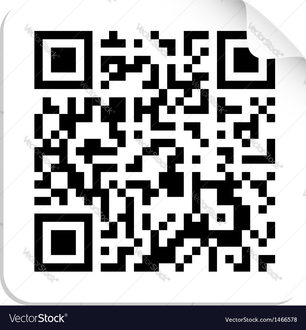 Qr code label concept vector | Price: 1 Credit (USD $1)