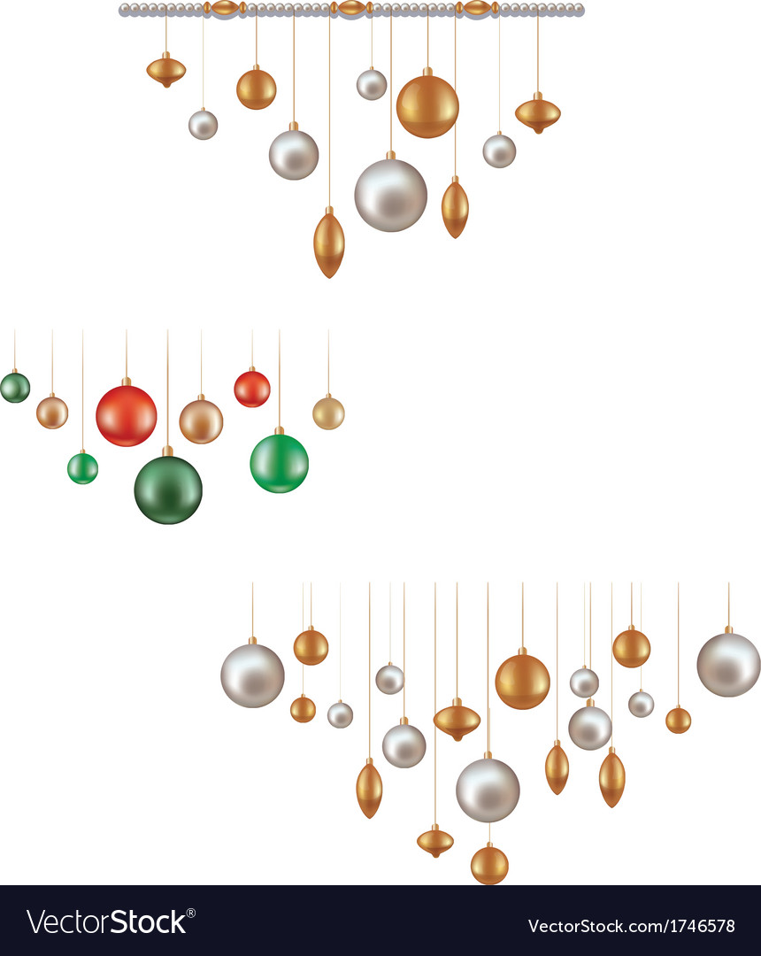 Set of hunging ball decoration vector | Price: 1 Credit (USD $1)