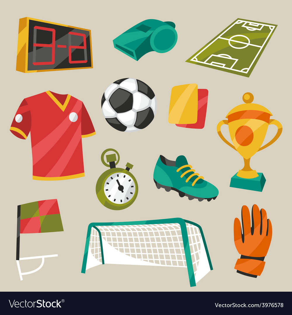 Set of sports soccer football symbols vector | Price: 1 Credit (USD $1)
