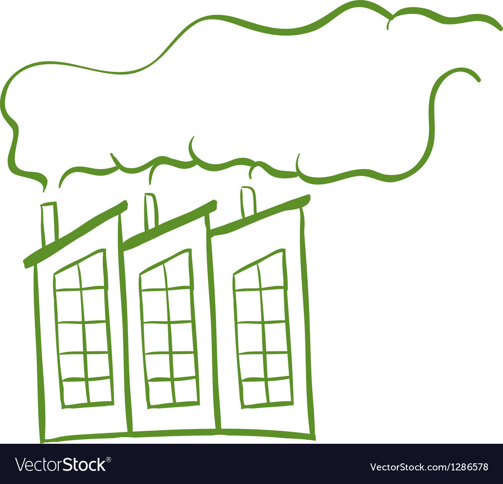 Smoke from the factories vector | Price: 1 Credit (USD $1)