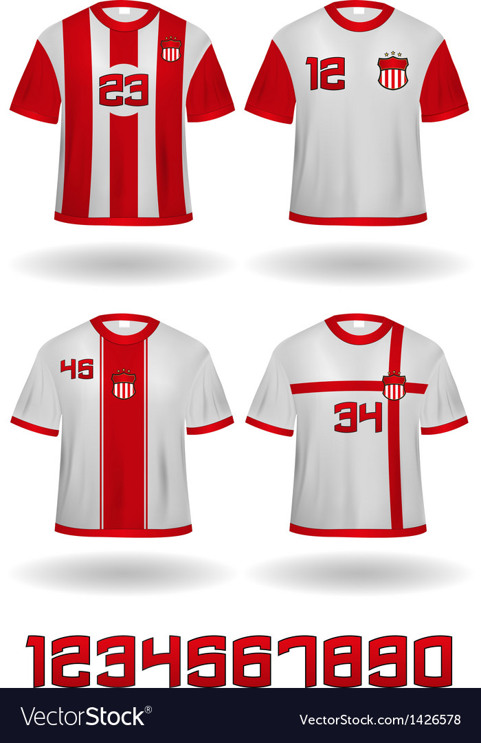 Soccer jerseys vector | Price: 1 Credit (USD $1)