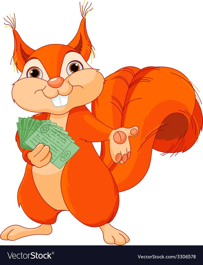 Squirrel with tickets vector | Price: 3 Credit (USD $3)
