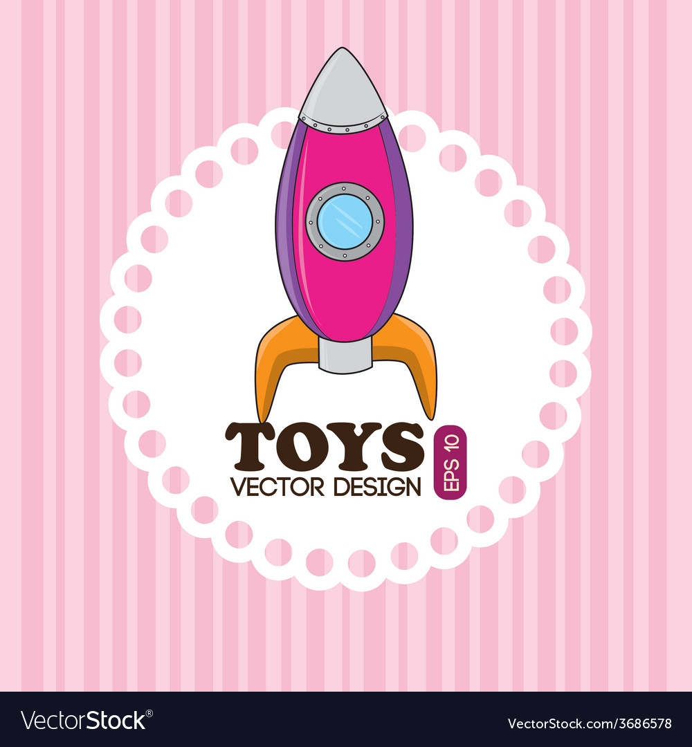 Toys design over pink background vector | Price: 1 Credit (USD $1)